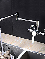 cheap -Contemporary Pot Filler Wall Mounted Rotatable Ceramic Valve Single Handle Two Holes Chrome, Kitchen faucet