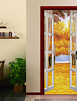 cheap -Landscape Floral/Botanical Wall Stickers 3D Wall Stickers Decorative Wall Stickers Door Stickers, Vinyl Paper Home Decoration Wall Decal