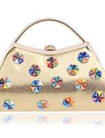 preiswerte -Damen Taschen Polyester Abendtasche Perlenstickerei für Veranstaltung / Fest Normal Ganzjährig Gold Schwarz Silber