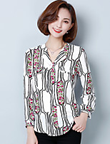 cheap -Women's Shirt - Floral V Neck