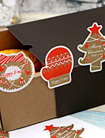 cheap -Holiday Stickers, Labels & Tags - 12 Christmas Irregular Stickers All Seasons