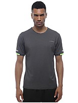 cheap -Men's Running T-Shirt Short Sleeve Breathability T-shirt for Exercise & Fitness Polyester Dark Grey L / XL / XXL