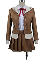 cheap -Inspired by Dangan Ronpa Chiaki Nanami Cosplay Anime Cosplay Costumes Cosplay Suits Other Long Sleeves Cravat Shirt Top Skirt More