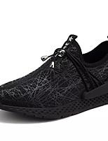 baratos -Homens sapatos Tecido Primavera Outono Conforto Tênis para Casual Preto