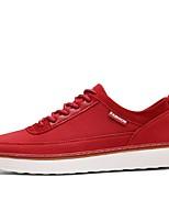 Недорогие -Муж. обувь Полиуретан Весна Осень Удобная обувь Кеды для Повседневные Черный Красный Синий