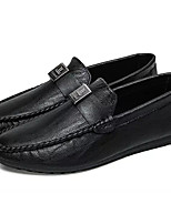 cheap -Men's Shoes PU Spring Fall Moccasin Loafers & Slip-Ons for Casual Black Gray Camel