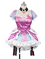 cheap -Inspired by Macross Frontier Cosplay Anime Cosplay Costumes Cosplay Suits Other Short Sleeves Skirt Dress Socks More Accessories Headwear