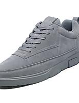 abordables -Homme Chaussures PU de microfibre synthétique Hiver Printemps Confort Basket pour Décontracté Noir Gris Kaki