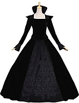 cheap -Victorian Rococo Costume Women's Adults' Outfits Black Vintage Cosplay Goose Down Long Sleeves Puff/Balloon