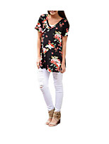 cheap -Women's Going out Active Boho T-shirt - Floral V Neck