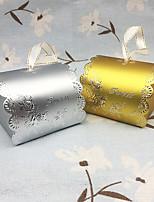 Недорогие -Форма D Мелованная бумага Фавор держатель с Рельефный Коробочки