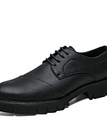 cheap -Men's Shoes Synthetic Microfiber PU Spring Fall Formal Shoes Oxfords for Casual Office & Career Black