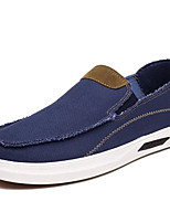 cheap -Men's Shoes Canvas Spring Fall Comfort Loafers & Slip-Ons for Casual Dark Blue Light Blue Light Brown