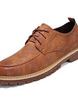 Недорогие -Муж. обувь Резина Весна Осень Удобная обувь Туфли на шнуровке для на открытом воздухе Черный Желтый Коричневый