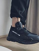Недорогие -Муж. обувь Полиуретан Зима Удобная обувь Кеды для Повседневные Черный Красный Черно-белый