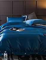 abordables -Ensembles housse de couette Couleur Pleine 4 Pièces Polyester/Coton 100% Coton Teinture Polyester/Coton 100% Coton 1 x Housse de couette