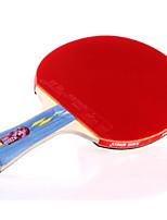 abordables -DHS® E402 Ping Pang/Tennis de table Raquettes Bois Caoutchouc 4 étoiles Long Manche Boutons