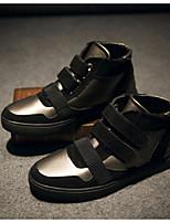 baratos -Homens sapatos Microfibra Primavera Outono Conforto Tênis para Casual Ao ar livre Preto Champanhe