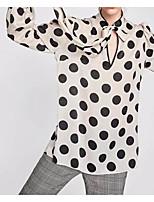 Недорогие -Жен. Рубашка Простой Горошек