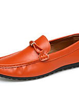 Недорогие -Муж. обувь Полиуретан Весна Осень Удобная обувь Мокасины и Свитер для Повседневные Белый Черный Оранжевый