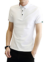 cheap -Men's Sports Business Street chic Plus Size Cotton Slim Polo - Solid Colored, Print Shirt Collar