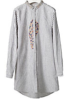 cheap -Women's Shirt - Striped, Basic Stand