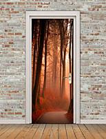 Недорогие -Пейзаж Цветочные мотивы/ботанический Наклейки Простые наклейки 3D наклейки Декоративные наклейки на стены Дверные наклейки, Винил
