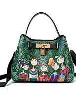 cheap -Women's Bags PU Shoulder Bag Zipper for Casual All Seasons Green