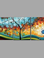 cheap -Hand-Painted Abstract Still Life Horizontal, Comtemporary Modern Canvas Oil Painting Home Decoration Three Panels