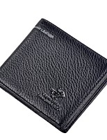 cheap -Men's Bags Cowhide Wallet Embossed for Casual Office & Career All Seasons Black