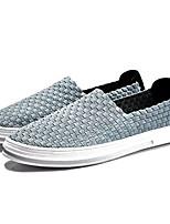 Недорогие -Муж. обувь Ткань Весна Лето Удобная обувь Мокасины и Свитер для Повседневные Черный Серый Синий