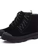 abordables -Homme Chaussures Cuir Nubuck Hiver Confort Basket pour Work & Safety Noir