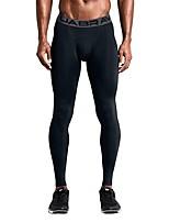 economico -Per uomo Collant da corsa Traspirabilità Pantalone / Sovrapantaloni Esercizi di fitness Poliestere Nero / Grigio L / XL / XXL