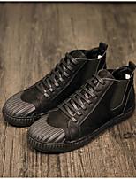 baratos -Homens sapatos Pele Nobuck Primavera Outono Conforto Tênis para Casual Ao ar livre Preto