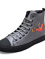 cheap -Men's Shoes Cowhide Spring Fall Combat Boots Comfort Boots Booties/Ankle Boots for Casual Black Gray