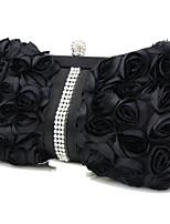 preiswerte -Damen Taschen Seide Abendtasche Rüschen für Veranstaltung / Fest Frühling Ganzjährig Weiß Schwarz