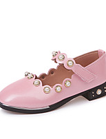cheap -Girls' Shoes PU Leather Spring Summer Comfort Flats Pearl for Casual Dress Gold Black Pink