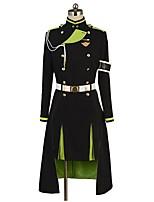 baratos -Inspirado por Serafim do Fim Fantasias Anime Fantasias de Cosplay Ternos de Cosplay Outro Manga Longa Blusa Saia Luvas Mais Acessórios