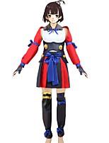 baratos -Inspirado por Kabaneri da fortaleza de Ferro Fantasias Anime Fantasias de Cosplay Ternos de Cosplay Outro Sem Manga Blusa Saia Mais