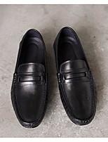 Недорогие -Муж. обувь Кожа Наппа Leather Весна Осень Удобная обувь Мокасины и Свитер для Повседневные Черный Коричневый Вино