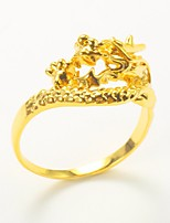 cheap -Men's Gold Plated Band Ring - Dragon Animals Fashion Gold Ring For Gift Daily