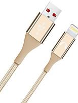 Недорогие -Подсветка Адаптер USB-кабеля Быстрая зарядка Высокая скорость Кабель Назначение iPhone 200 cm Нейлон