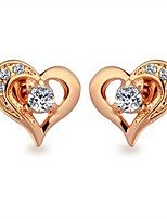 cheap -Women's Bohemian Heart Gold Plated Stud Earrings - Bohemian Korean Heart For Party Gift