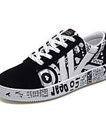 Недорогие -Муж. обувь Полиуретан Ткань Весна Осень Удобная обувь Кеды для Повседневные Черно-белый Черный / синий