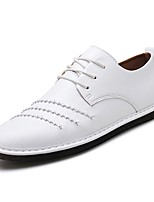 cheap -Men's Shoes PU Leather Spring Summer Light Soles Comfort Loafers & Slip-Ons for Casual Party & Evening White Black Red Khaki