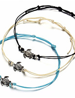 cheap -Anklet - Women's White Black Blue Fashion Turtle Cord Anklet For Daily