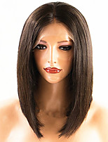 cheap -Virgin Human Hair Full Lace / Lace Front Wig Brazilian Hair Wig Bob Haircut 130% / 150% Natural Hairline Women's Short Human Hair Lace Wig