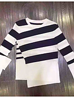 cheap -Women's Holiday Vintage T-shirt - Striped Color Block, Patchwork