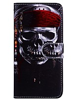 cheap -Case For Apple iPhone X iPhone 6 Card Holder Flip Pattern Full Body Cases Skull Hard PU Leather for iPhone X iPhone 8 Plus iPhone 8
