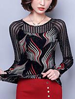 cheap -Women's Vintage Blouse - Solid Colored